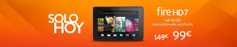 Kindle Fire HD 7 Wifi 16 GB reacondicionado certificado