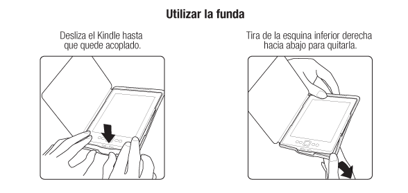 Utilizar la funda Kindle