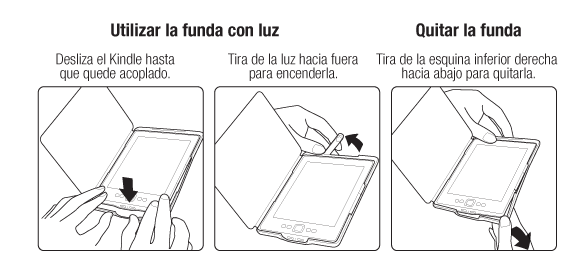 Utilizar la funda con luz
