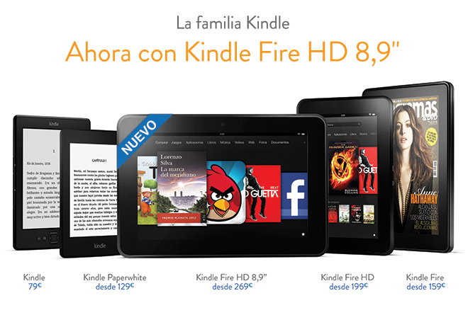 La nueva familia Kindle