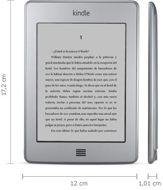 Lector Kindle: 17,2 cm x 12 cm x 1,01 cm