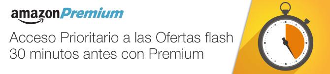 Accede a las Ofertas flash 30 minutos antes con Amazon Premium