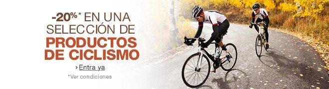 20% de descuento en ciclismo