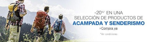 -20% en una seleci�n de productos de acampada y senderismo