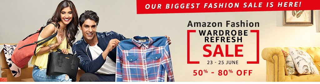 Min 50% OFF on Fashion + 10% Cashback via HDFC Credit Card & 20% via Pay Balance