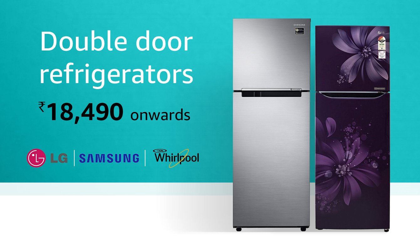 Double door refrigerators