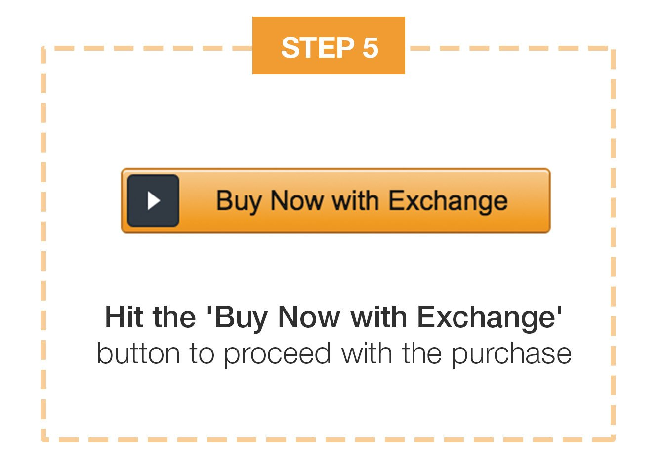 hit the buy now with exchange button