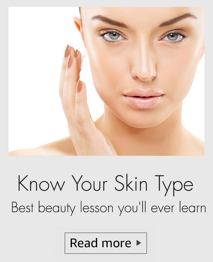 Know your skin type, how to detremine your skin type, shop beauty products according to your skin type, skin type beauty regime, beauty regime according to skin type, what is your skin type, combination skin, normal skin, dry skin, oily skin, sensitive skin, anti ageing, damaged skin, skin type tips