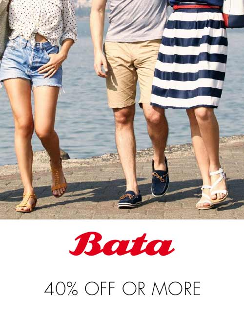 Bata 40% off or more