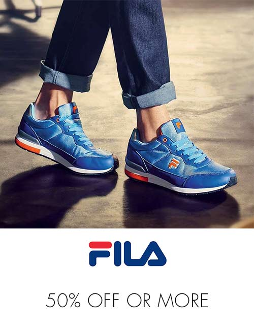Fila 50% off or more