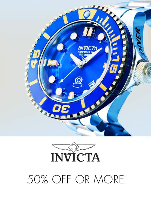 Invicta 50% off or more