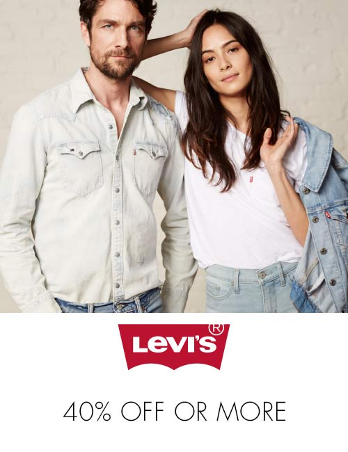 Levi's 40% off or more