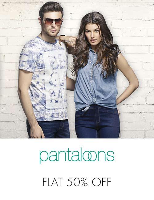 Pantaloons flat 50% off