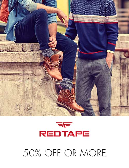 RedTape 50% off or more