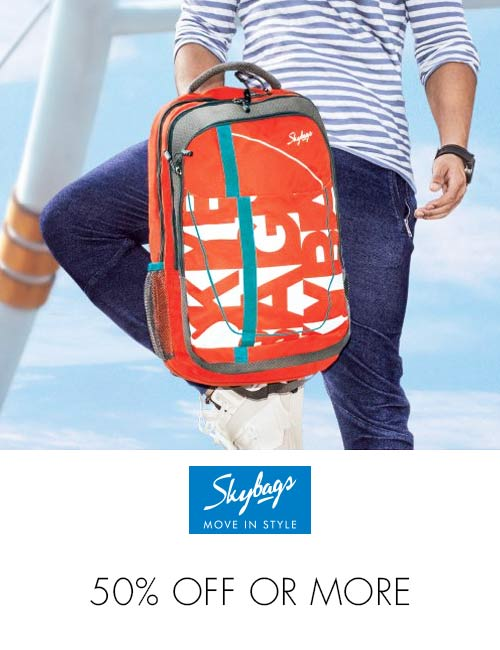 Skybags 50% off or more