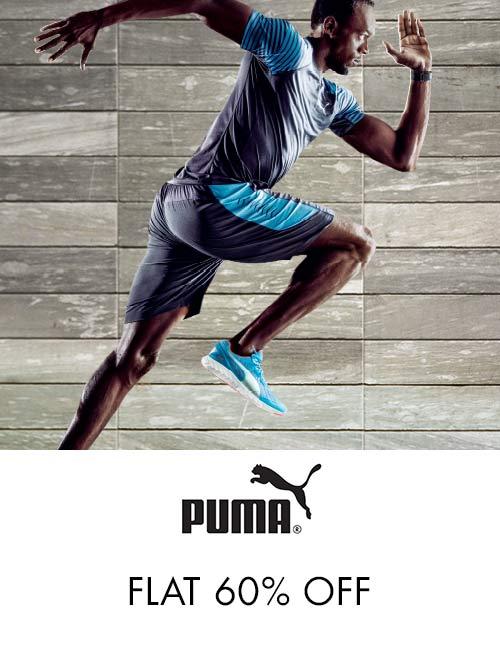 Puma : Flat 60% Off