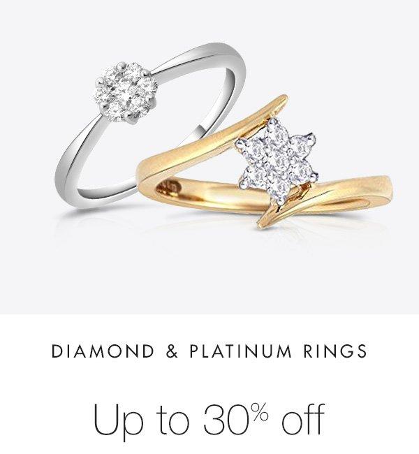 diamond and platinum rings