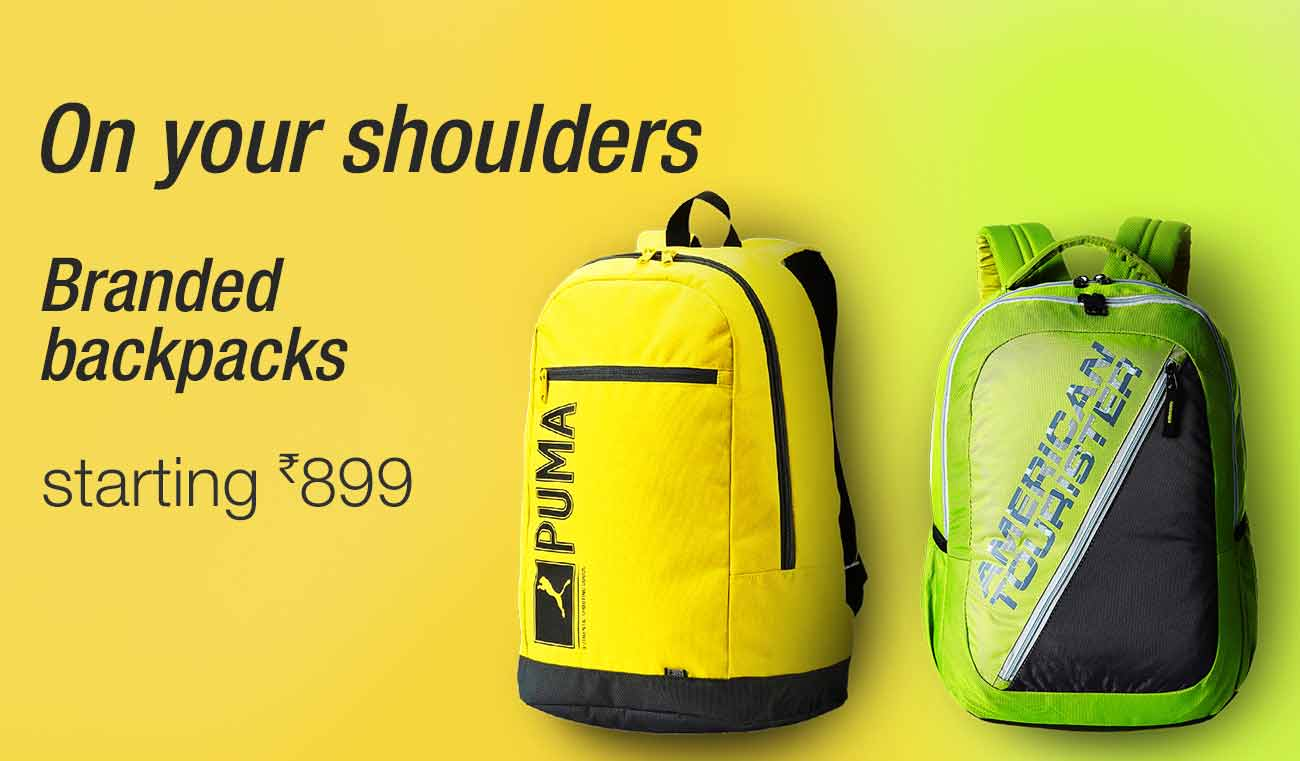 Backpacks sarting Rs 899