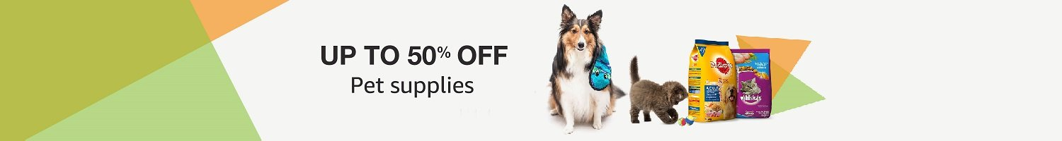 Up to 50% of pet supplies