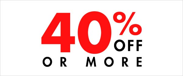 40% off or more