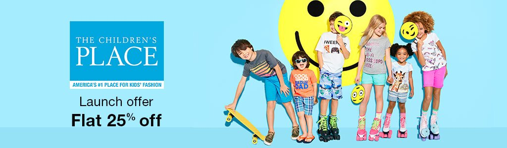 The Children's Place Clothing – Flat 25% Off @ Amazon – Fashion & Apparels