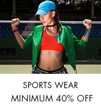 Sportswear: Minimum 40% off