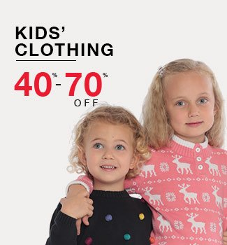 kids' clothing: 40% - 70% off