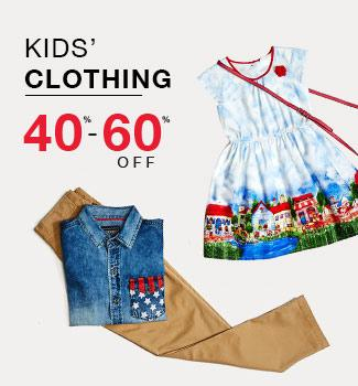 kids' clothing: 40% - 60% off