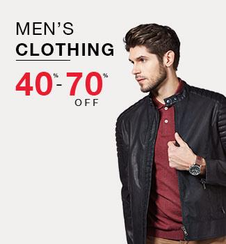 Men's Clothing: 40% - 70% off