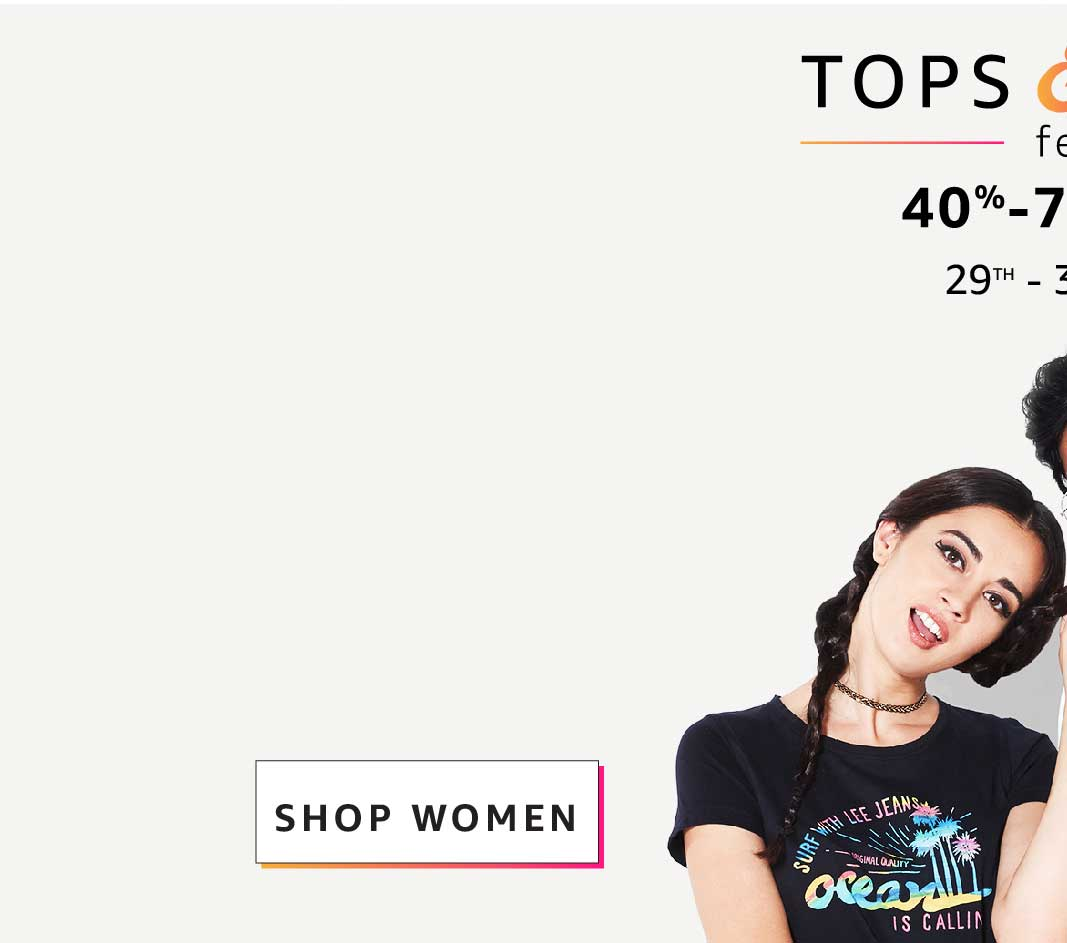 TOPS & TEES FEST  Shop online at Amazon India from a wide range of tops, tees and casual shirts. Avail great discounts on top brands lile United Colors of Benetton, USPA, VERO MODA, Aéropostale and many more. Choose from international favourites like GAP,