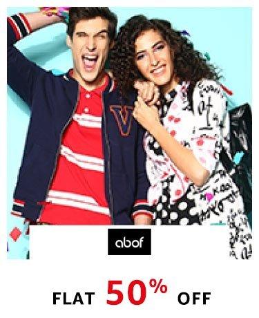 abof flat 50% off