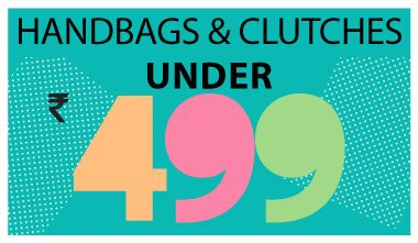 Handbags & Clutches Under Rs. 499