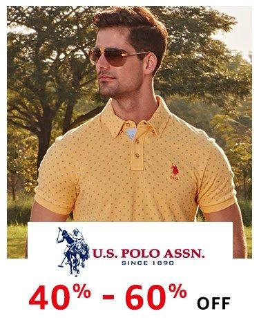 US Polo min 40% off