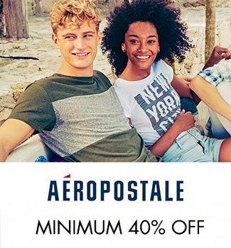 Aeropostale min 40% off