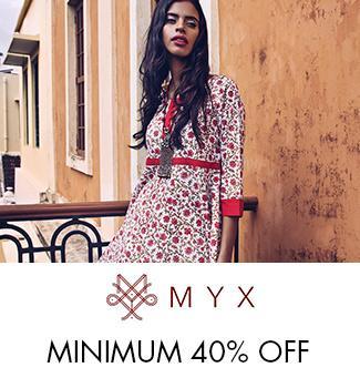 myx min 40% off