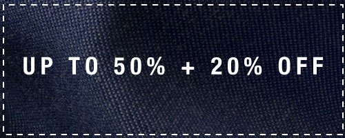 up to 50% + 20% off
