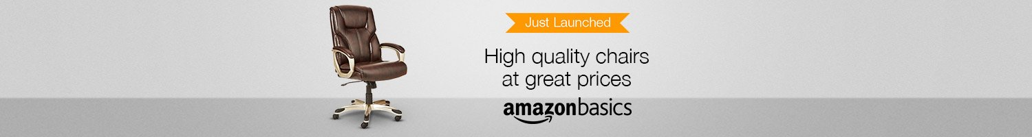 Just launched: AmazonBasics chairs
