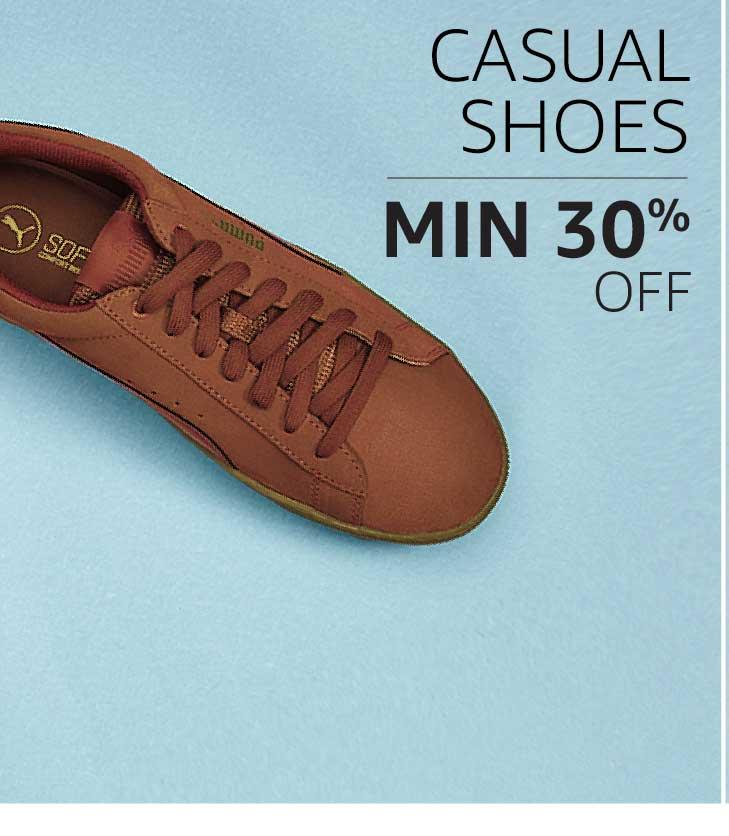 Casual Shoes: Minimum 30% off