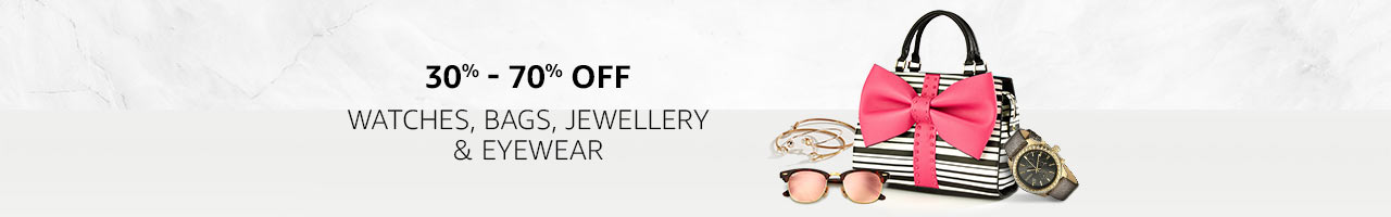 30%-70% off Watches, Bags & more