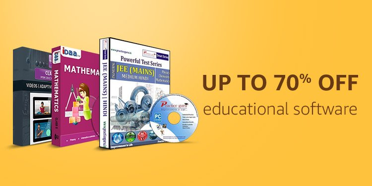 Up to 70% off educational software
