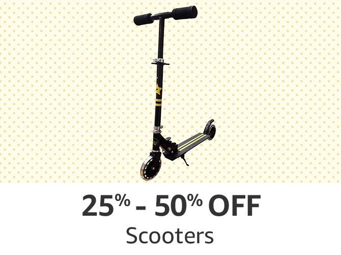 Scooters: 25% to 50% off