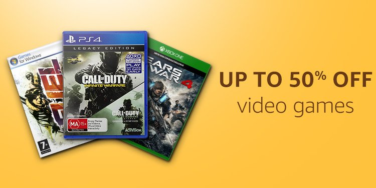 Up to 50% off video games
