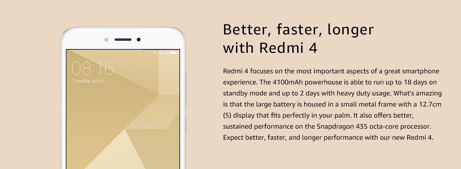 Better faster longer with Redmi 4