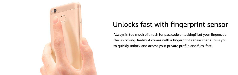 Unlocks fast with fingerprint sensor