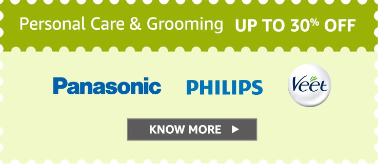 Upto 30% off on Personal Grooming