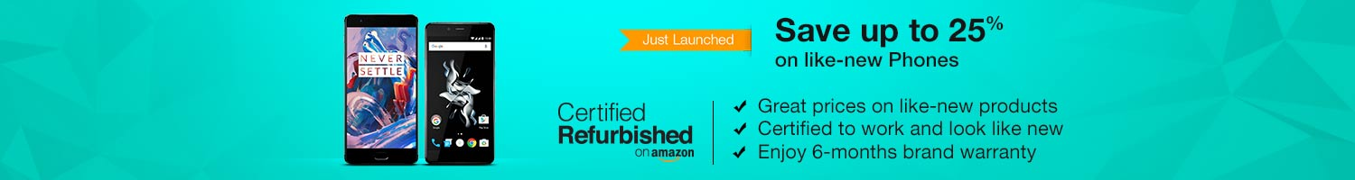 Save up to 25% on Certified Refurbished Mobiles