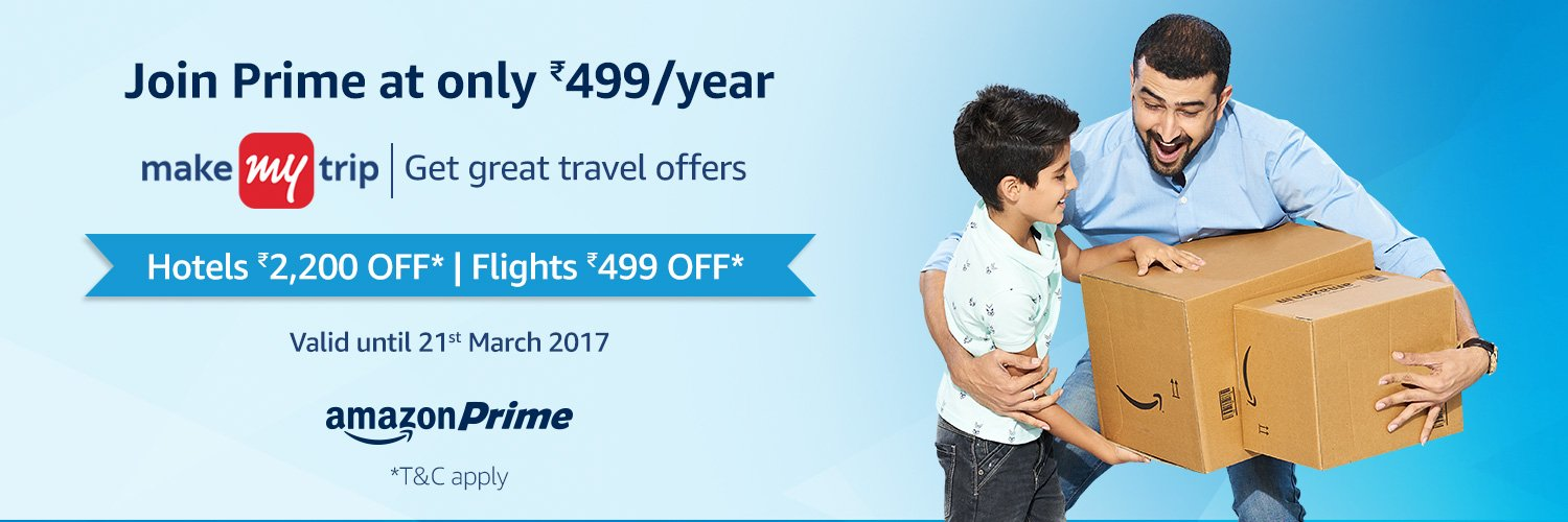 Amazon Prime MakeMyTrip Offer
