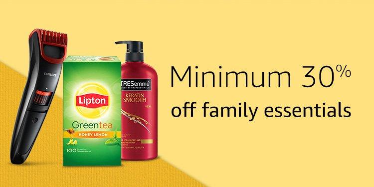 Minimum 30% off family essentials