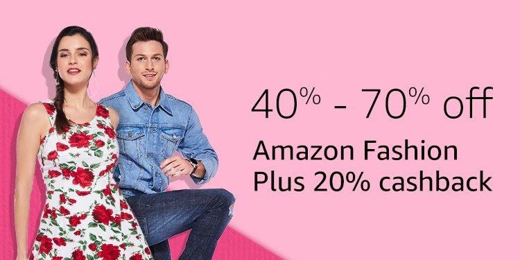 Extra 20% cashback on Amazon Fashion