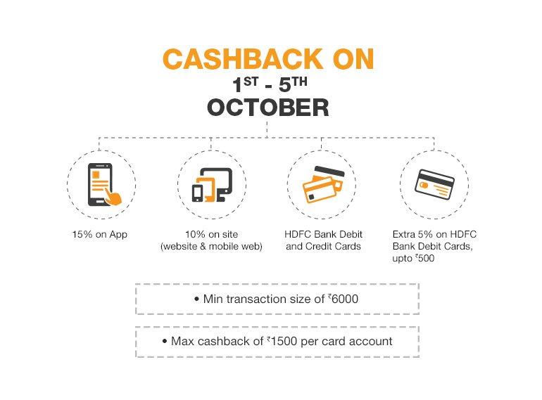 HDFC Cashback Details